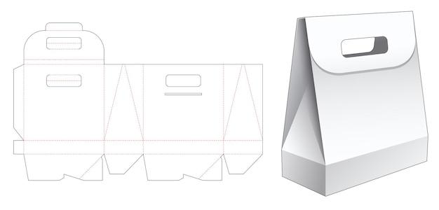 Handvat obelisk-vormige zak gestanst sjabloon
