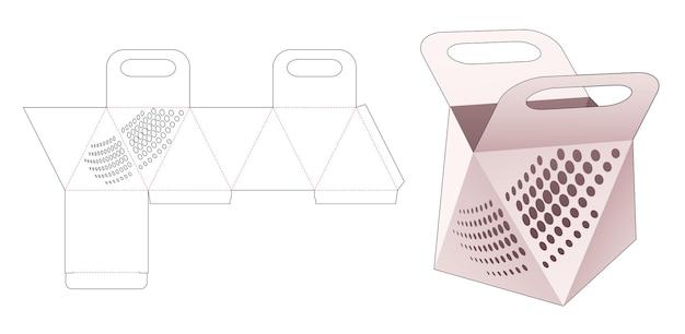 Handvat prismatas met gestencilde halftoonstippen gestanst sjabloon