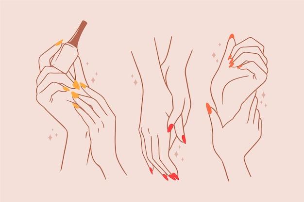 Handverpakking voor manicure