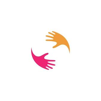 Handverzorging logo pictogram zakelijke vector symboolsjabloon