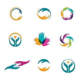 Handverzorging pictogram sjabloon vector illustratie ontwerp
