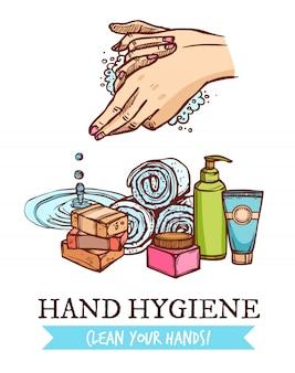 Handwas illustratie