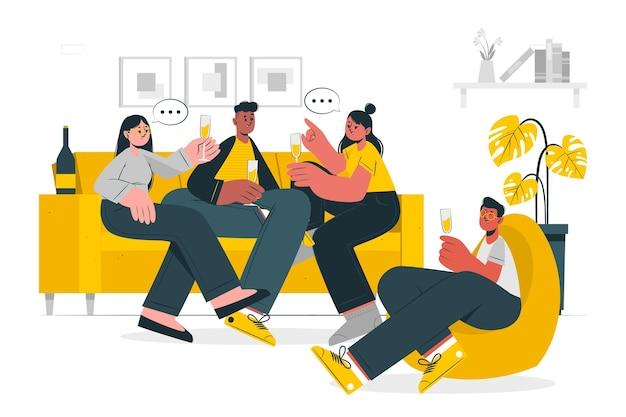 Hang out concept illustratie