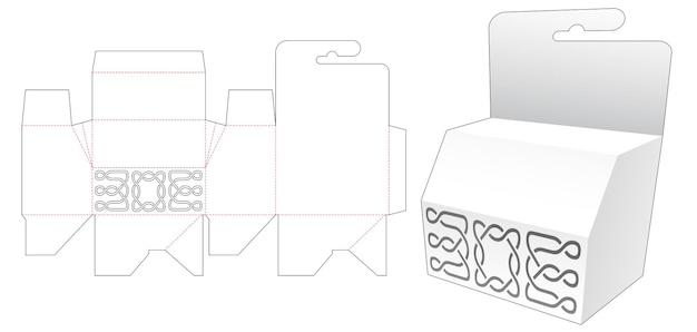 Hangende afgeschuinde doos met gestencild patroon gestanst sjabloon