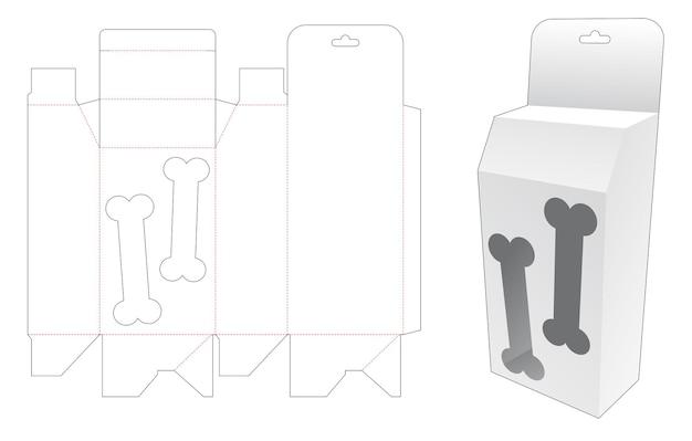 Hangende doos met gestanst sjabloon in de vorm van een hondenbot
