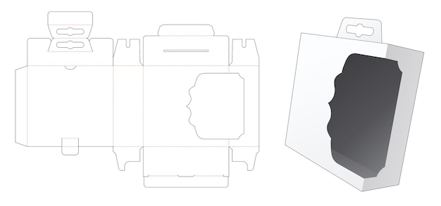 Hangende doos met gestanst sjabloon voor displayvenster