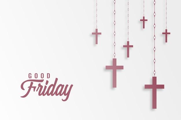 Hangende kruisen voor goede vrijdag