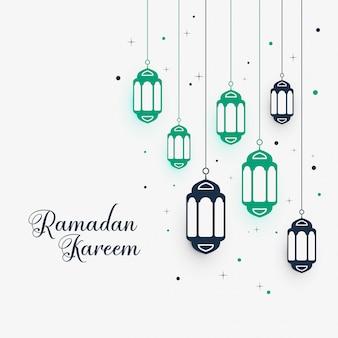 Hangende lampendecoratie voor ramadan kareem