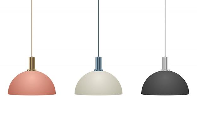 Hangende moderne lamp ontwerp illustratie geïsoleerd op een witte achtergrond