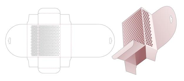 Hangende retailverpakking met gestencilde halftoonstippen gestanst sjabloon