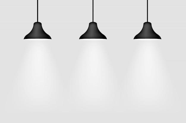 Hangers met lichtstralen
