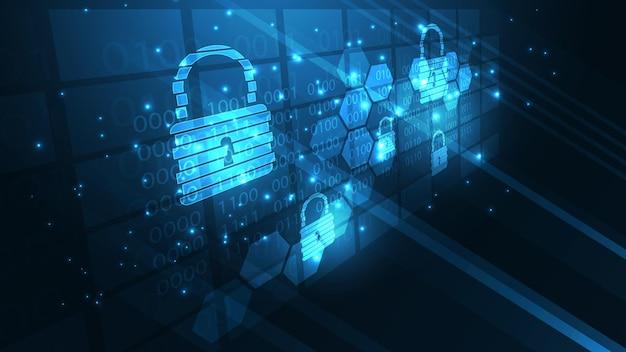Hangslot cyber digitaal veiligheidsconcept
