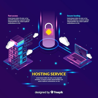 Hangslot hosting service achtergrond