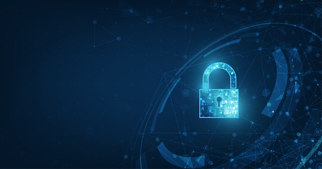 Hangslot met sleutelgatpictogram in beveiliging van persoonlijke gegevens illustreert cybergegevens of informatieprivacy-idee.