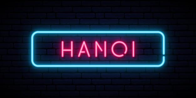 Hanoi neon teken.