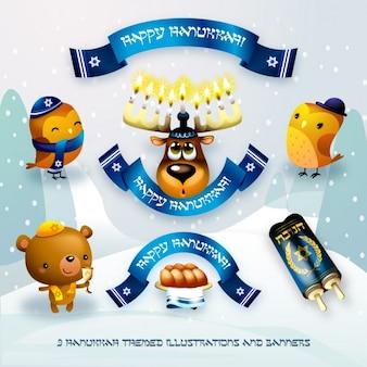 Hanukkah elementen collectie