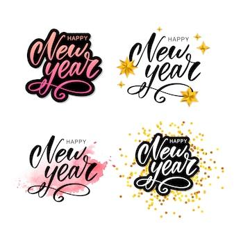 Happy 2020 nieuwjaar belettering samenstelling