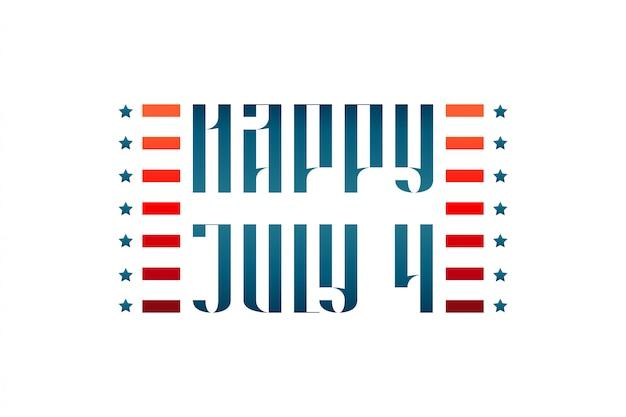 Happy 4 juli middeleeuwse traditionele letters