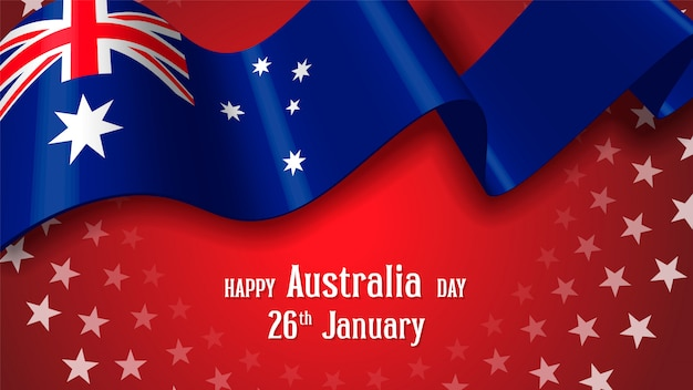 Happy australia day celebration poster of banner achtergrond