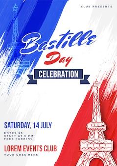 Happy bastille day viering achtergrond