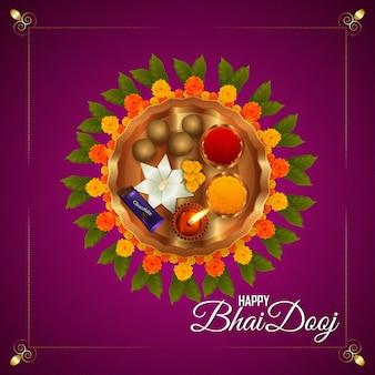 Happy bhai dooj, het festival van de indiase traditie