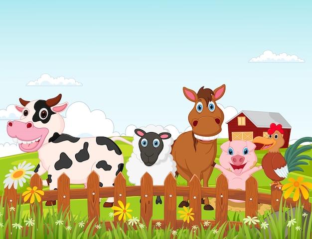 Happy boerderij dieren cartoon collectie