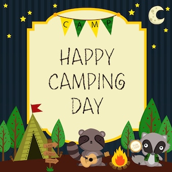 Happy camping card