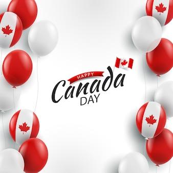Happy canada day achtergrond met ballonnen