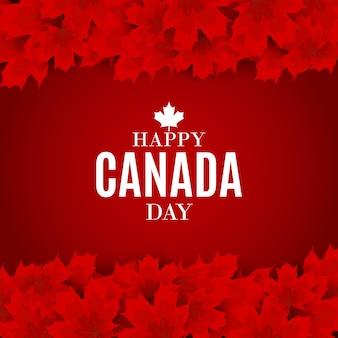 Happy canada day achtergrond wenskaart. vectorillustratie
