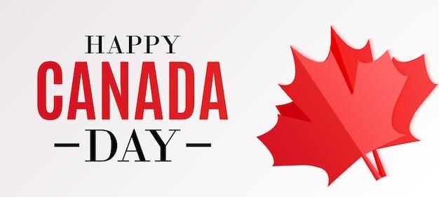 Happy canada day achtergrondgroet