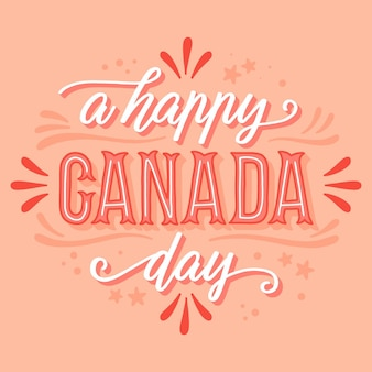 Happy canada day belettering