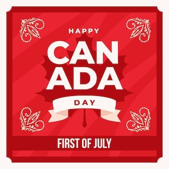 Happy canada day met bloemmotieven
