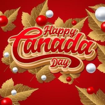Happy canada day vector illustratie