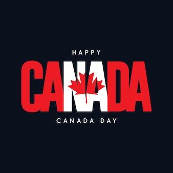 Happy canada day vector sjabloonontwerp