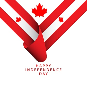 Happy canada independence day vector sjabloon
