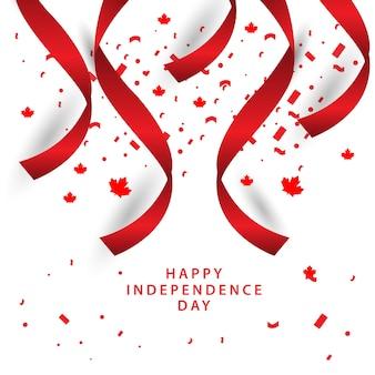 Happy canada onafhankelijke dag vector sjabloonontwerp
