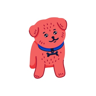 Happy cartoon puppy pommeren spitz
