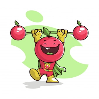Happy cherry cartoon