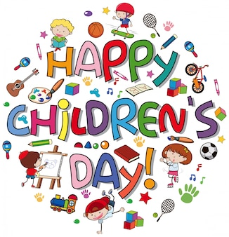 Happy children day-logo