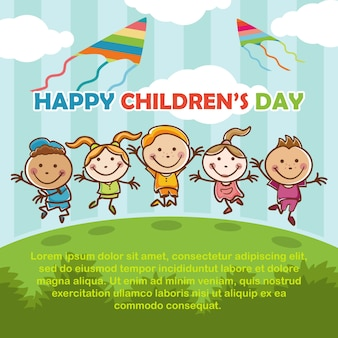 Happy children's playing day