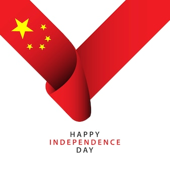 Happy china independence day vector sjabloon