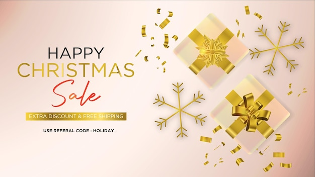 Happy christmas-verkoopbanner