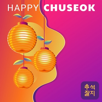 Happy chuseok day of mid autumn festival