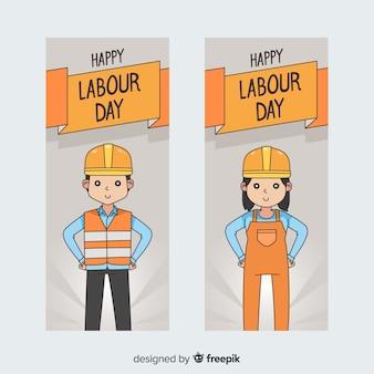 Happy dag van de arbeid banners