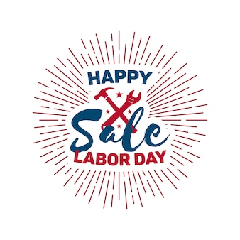Happy dag van de arbeid verkoop ontwerp.