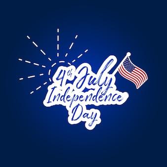 Happy dag van de onafhankelijkheid letters