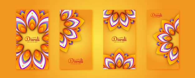 Happy diwali festival instagram-verhaalsjabloon