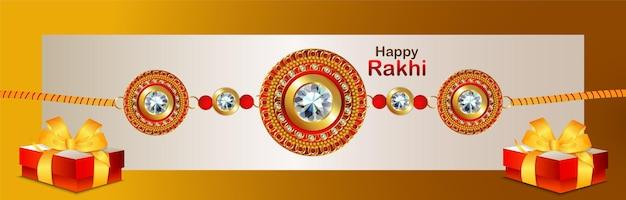 Happy dussehra indian festival viering banner met illustratie van rakhi