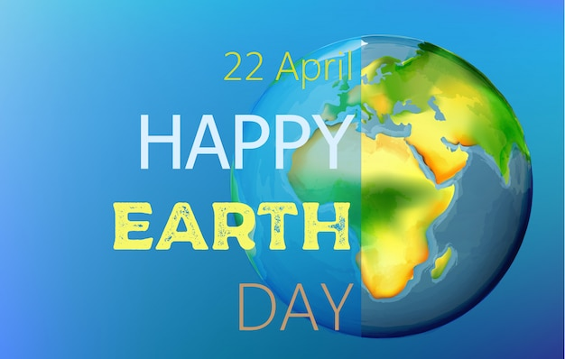 Happy earth day aquarel tekenen