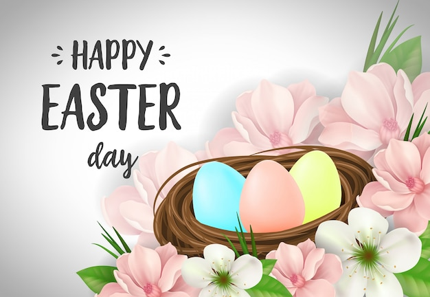Happy easter day belettering